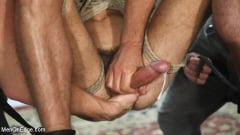 Scott DeMarco - Lean hunk with a big cock blows his load mid-air! (Thumb 12)