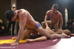 Sebastian Keys - Four hot studs fight for the right to fuck in front of a live crowd! (Thumb 06)