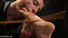 Pierce Paris - Sore Loser: Muscle stud Pierce Paris Gets Beat and Foot-Fucked (Thumb 11)