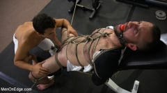 Shay Stone - Hairy Hunk Shay Stone Gets Bound, Tickled, and Edged (Thumb 05)