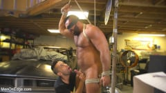 Steven Roman - Beefy mechanic taken down and edged against his will (Thumb 03)