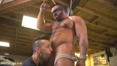 Steven Roman - Beefy mechanic taken down and edged against his will (Thumb 06)
