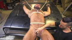 Steven Roman - Beefy mechanic taken down and edged against his will (Thumb 12)
