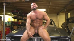 Steven Roman - Beefy mechanic taken down and edged against his will (Thumb 15)