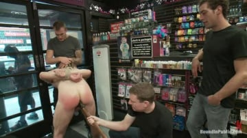 Travis Irons - A stud wants to be a whore in a sex shop.