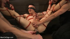 Zak Bishop - New to KinkMen, Zak Bishop Gets Sucked, Edged and Fisted Till He Blows (Thumb 14)