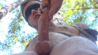 Christian Wilde in 'Bound Christian Wilde begs to cum in the woods'