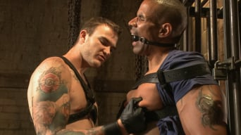 Christian Wilde in 'beats, torments, and fucks his body builder captive'