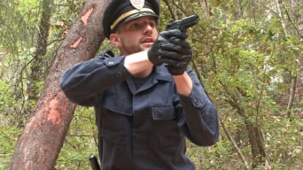 Jimmy Bullet in 'Officer Bullet - Ass fucked and edged in the middle of the woods'