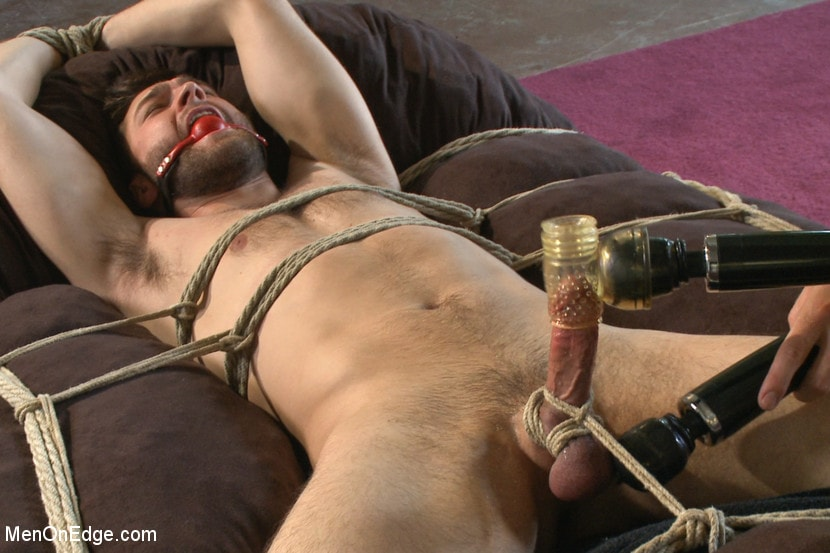 Male bondage cumming