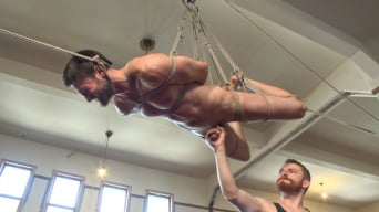 Abel Archer in 'Hot bi hunk's first time being bound and edged'