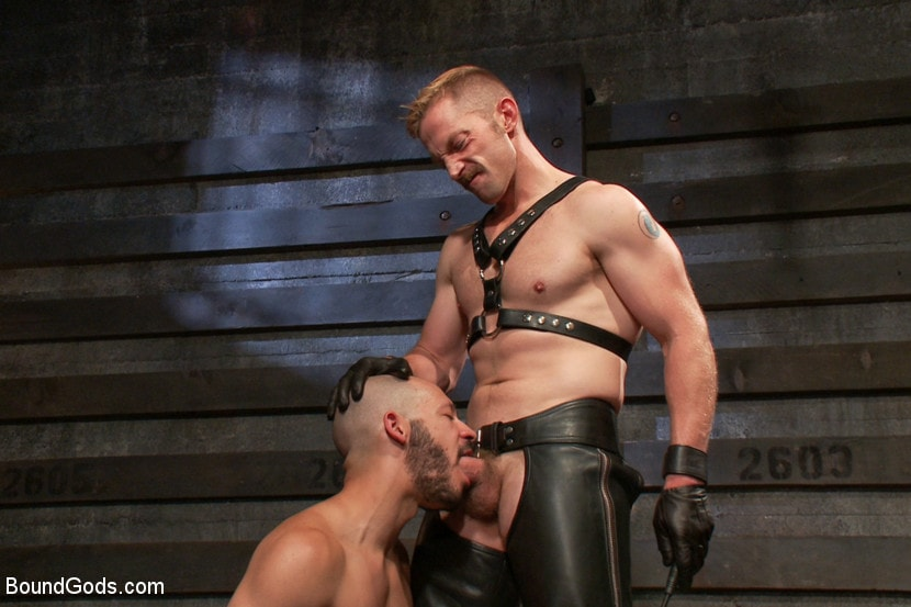 Gay guys in leather