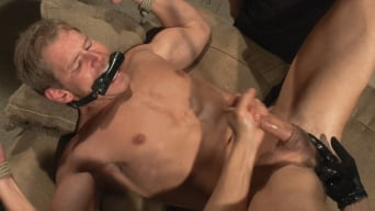 Alex Adams in 'Captured dock worker gets jacked up by two perverts'
