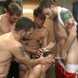 Alex Adams in 'Kink Men' Loudmouth Gym Freak Fucked and Pissed on in Boxing Gym Locker Room (Thumbnail 16)