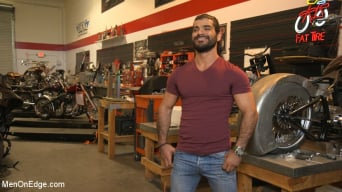 Ali Liam in 'Hot biker gets edged in the motorcycle garage'