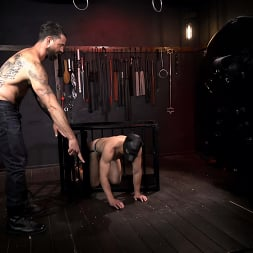 Alpha Wolfe in 'Kink Men' In The Doghouse: Alpha Wolfe Stretches Pup Riley Landon's Hole (Thumbnail 2)