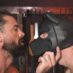 Alpha Wolfe in 'Kink Men' In The Doghouse: Alpha Wolfe Stretches Pup Riley Landon's Hole (Thumbnail 22)
