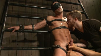 Andrew Fitch in 'Ripped straight hunk with a fat uncut cock bound for the first time.'