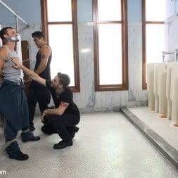 Axel Flint in 'Kink Men' Hot janitor endures relentless edging at an airport restroom (Thumbnail 2)