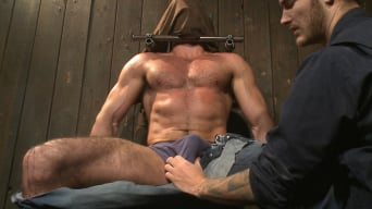Billy Santoro in 'Muscle captive submits to the hands of Mr Wilde'