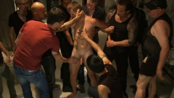 Branden Forrest in 'Dirty cruisers take down two innocent studs in a public toilet.'