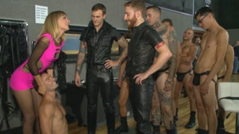 Cameron Kincade in 'BIP crew infiltrates Bond-Con and makes straight stud take tons of cock!'