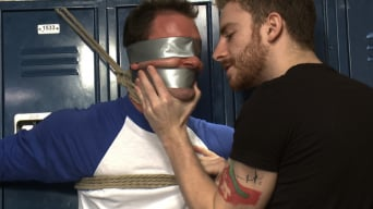 Cameron Kincade in 'Captured Baseball Stud gets Edged in the Locker Room'