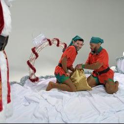 Casey Everett in 'Kink Men' Impish Little Elves: Casey Everett Edged by Santa and his Lil Helper (Thumbnail 1)