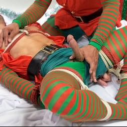 Casey Everett in 'Kink Men' Impish Little Elves: Casey Everett Edged by Santa and his Lil Helper (Thumbnail 4)