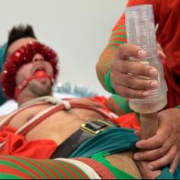 Casey Everett in 'Kink Men' Impish Little Elves: Casey Everett Edged by Santa and his Lil Helper (Thumbnail 5)