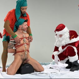 Casey Everett in 'Kink Men' Impish Little Elves: Casey Everett Edged by Santa and his Lil Helper (Thumbnail 11)