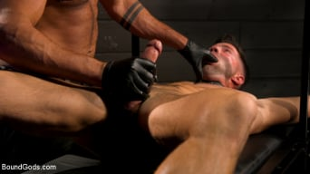 Casey Everett in 'My God Sharok: Casey Everett Worships New Leather-Clad Master'