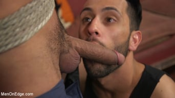 Cesar Xes in 'Gets His Huge Cock Sucked And Edged'