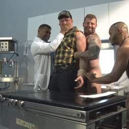 Colby Jansen in 'Kink Men' American Gangbang: Pierce Paris Restrained and Fucked RAW (Thumbnail 15)