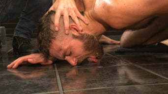 Connor Maguire in 'Beard full of cum - Bound stud fucked with machines and cock alike!'