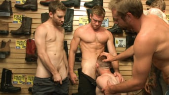 Connor Maguire in 'Boot shop slut abused and gang fucked by coworkers'