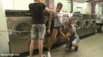 Connor Patricks in 'Cute guy overpowered and edged in the laundromat'