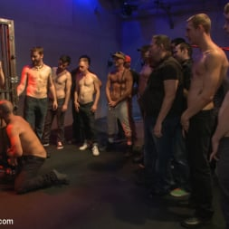 Dayton O'Connor in 'Kink Men' Horny crowd gang bangs a young stud at the playspace of Mr S Leather (Thumbnail 2)