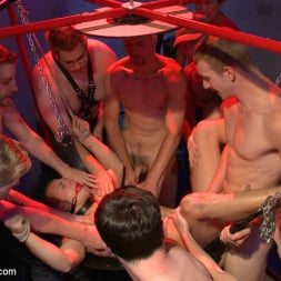 Dayton O'Connor in 'Kink Men' Horny crowd gang bangs a young stud at the playspace of Mr S Leather (Thumbnail 3)