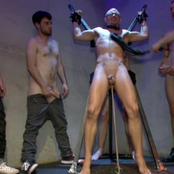 Dayton O'Connor in 'Kink Men' Horny crowd gang bangs a young stud at the playspace of Mr S Leather (Thumbnail 4)
