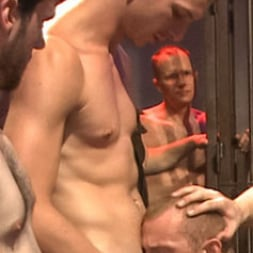 Dayton O'Connor in 'Kink Men' Horny crowd gang bangs a young stud at the playspace of Mr S Leather (Thumbnail 10)