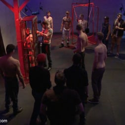 Dayton O'Connor in 'Kink Men' Horny crowd gang bangs a young stud at the playspace of Mr S Leather (Thumbnail 14)