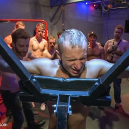 Dayton O'Connor in 'Kink Men' Horny crowd gang bangs a young stud at the playspace of Mr S Leather (Thumbnail 17)