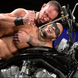Dillon Diaz in 'Kink Men' Rode Hard: Dillon Diaz Dominated On Michael Roman's Motorcycle (Thumbnail 10)