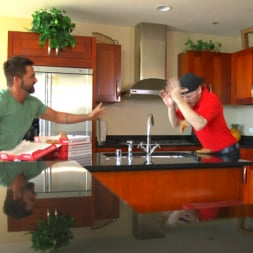 Dominic Pacifico in 'Kink Men' Delivery Gone Wrong - Uncut Stud Gets Edged By the Pizza Delivery Guy (Thumbnail 1)