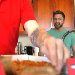 Dominic Pacifico in 'Kink Men' Delivery Gone Wrong - Uncut Stud Gets Edged By the Pizza Delivery Guy (Thumbnail 2)