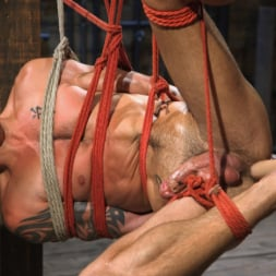 Dominic Pacifico in 'Kink Men' Submissive Stud Casey Everett gets Tied Up and Machine Fucked by a God (Thumbnail 7)