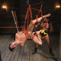 Dominic Pacifico in 'Kink Men' Submissive Stud Casey Everett gets Tied Up and Machine Fucked by a God (Thumbnail 8)
