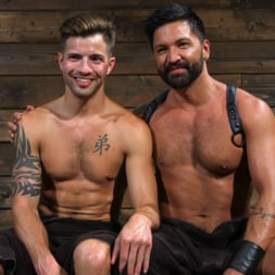 Dominic Pacifico in 'Kink Men' Submissive Stud Casey Everett gets Tied Up and Machine Fucked by a God (Thumbnail 14)