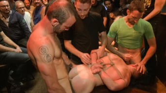 Doug Acre in 'Ripped stud with a giant cock get used in a crowded bar'